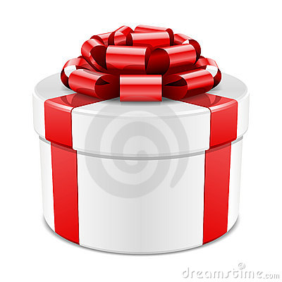 Gift wrapped present with bow