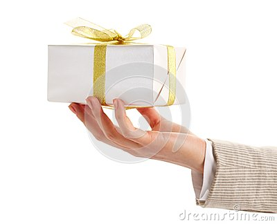 Giftbox in hand