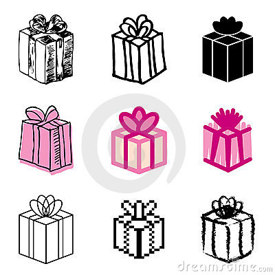 Giftbox icons set