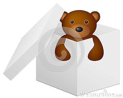 Giftbox with tedy bear