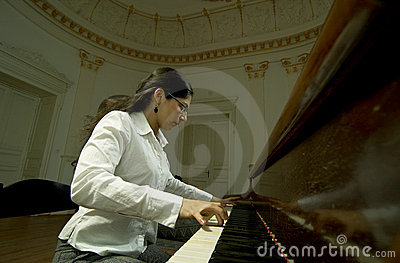 Gifted Pianist at the Piano