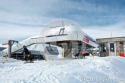 Gifthittli ski station, Switzerland Editorial Photo