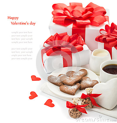 Free Gifts And Sweets To Valentine S Day Royalty Free Stock Photography - 63431327