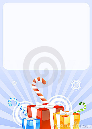 Gifts and candies greetings card
