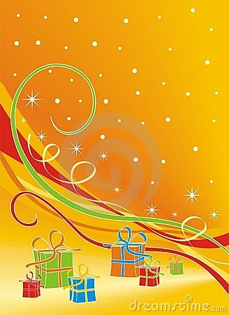 Free Gifts - Christmas Backround Royalty Free Stock Photography - 7703527