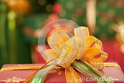Gifts and christmas lights