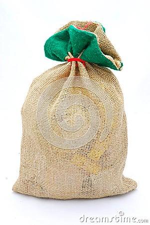 Gifts in gunny sack