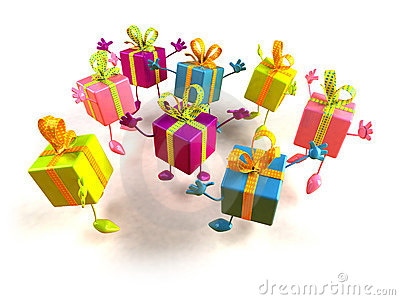 Gifts jumping