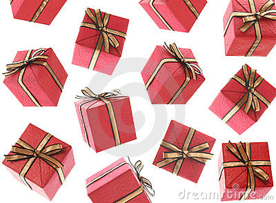 Gifts Raining (Isolated)