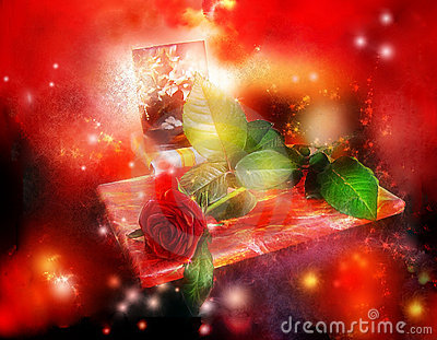 Gifts, rose and postal