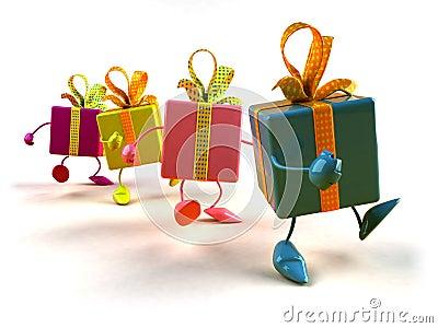 Gifts walking