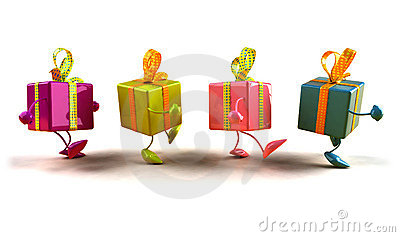 Gifts walking