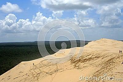 Gigantic Dune de Pyla in Arcachon, France