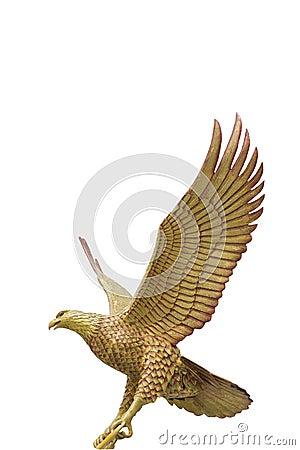 Gigantic eagle  isolated on white background