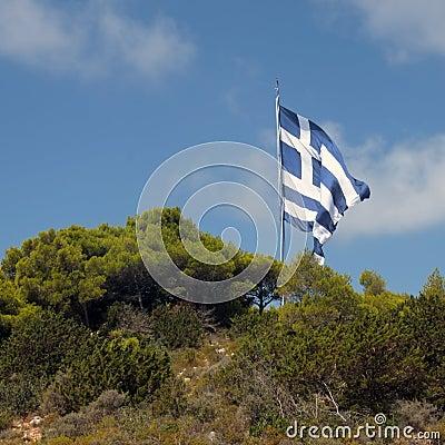 Gigantic greek flag