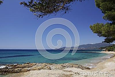 Gigaro beach near the city La Croix Volmer, Cote d Azur, Provence, Southern France