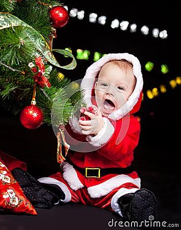Giggling Santa baby