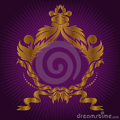 Gilded frame on lilac