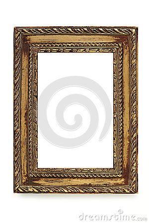 Gilded Shabby Chic Picture Frame over White