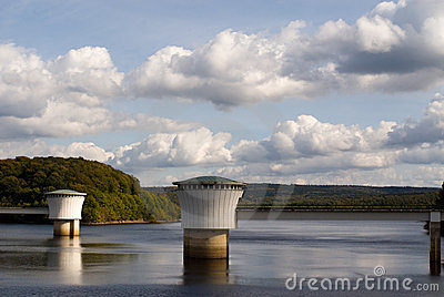 Gileppe Dam Stock Photo