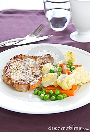 Free Gilled Pork [Pork Steak ] Stock Photos - 23092893