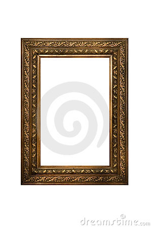 Gilt decorated frame isolated