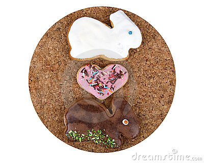 bunnies in love. Ginger bread unnies in love