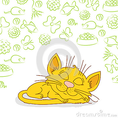 Free Ginger Cat Is Sleeping Stock Photos - 41254223