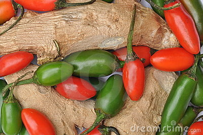 Ginger and chillies