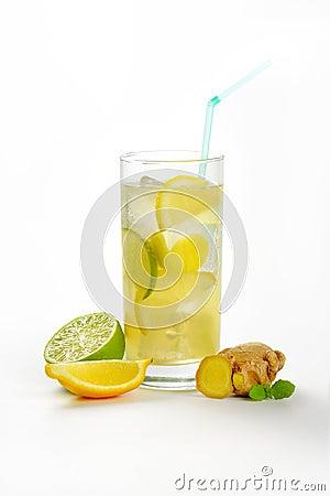 Free Ginger Ice Tea Royalty Free Stock Image - 61359266
