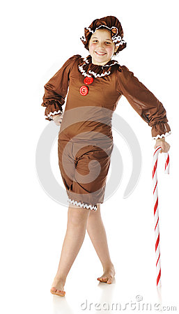 Ginger, Leaning on a Candy Cane