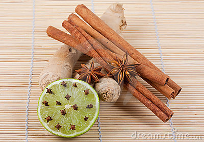 Ginger root, anise, cinnamon, lime and cloves