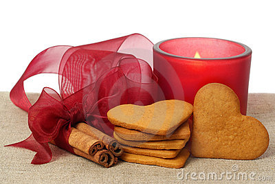Ginger snap, cinnamon and candle
