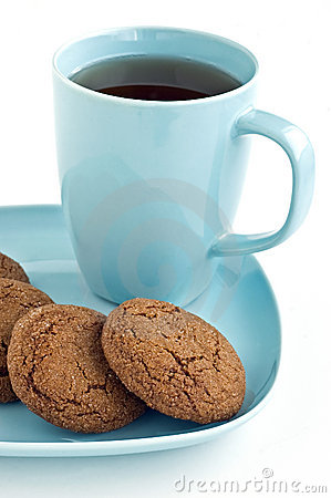 Ginger snaps and tea