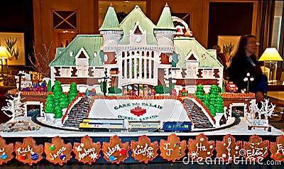 Gingerbread Село Gare du Palais Que Редакционное Фото