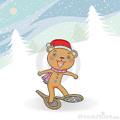 Gingerbread bear winter event action icon.