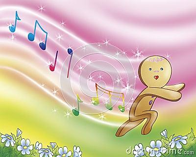 Gingerbread boy singing