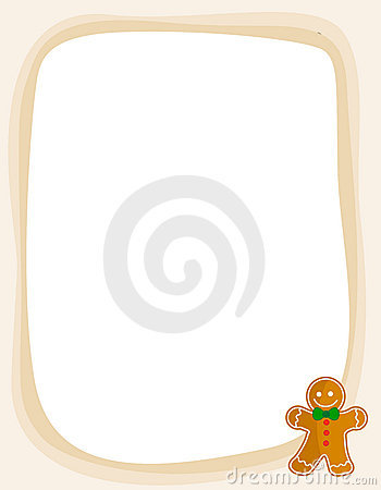 Gingerbread christmas frame / border