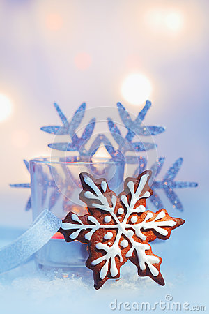 Gingerbread Christmas snowflake
