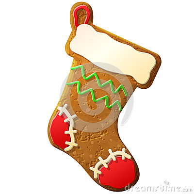 Gingerbread christmas stocking decorated colored i