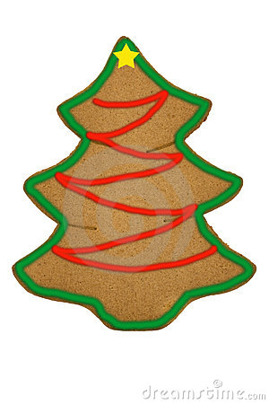 Free Gingerbread Christmas Tree Royalty Free Stock Images - 11919859