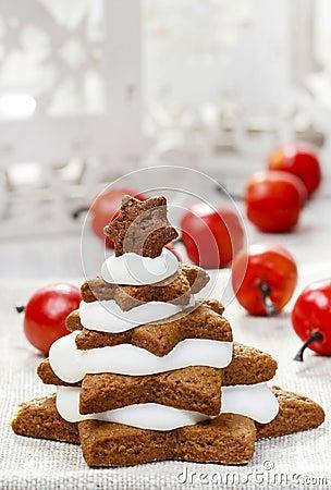 Gingerbread christmas trees. Beautiful xmas