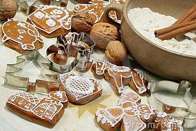 Gingerbread cookies and shape