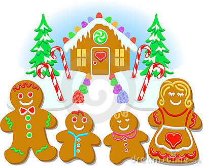 gingerbread familyeps royalty free stock images image