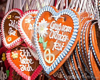 Gingerbread heart Editorial Stock Photo