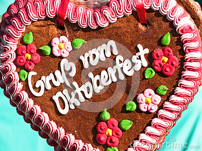 Gingerbread heart Editorial Image