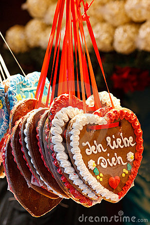 Free Gingerbread Heart (Lebkuchenherz)  I Love You  Stock Photo - 12703960