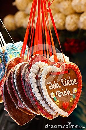 Gingerbread Heart (Lebkuchenherz)  I Love You