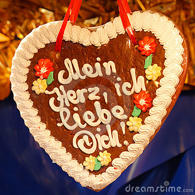 Gingerbread Heart (Lebkuchenherz)  I Love You