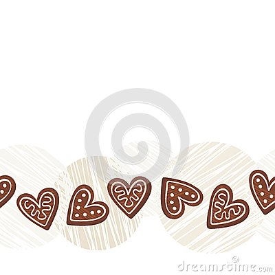 Heart Border Horizontal Gingerbread hearts horizontalHeart Border Horizontal